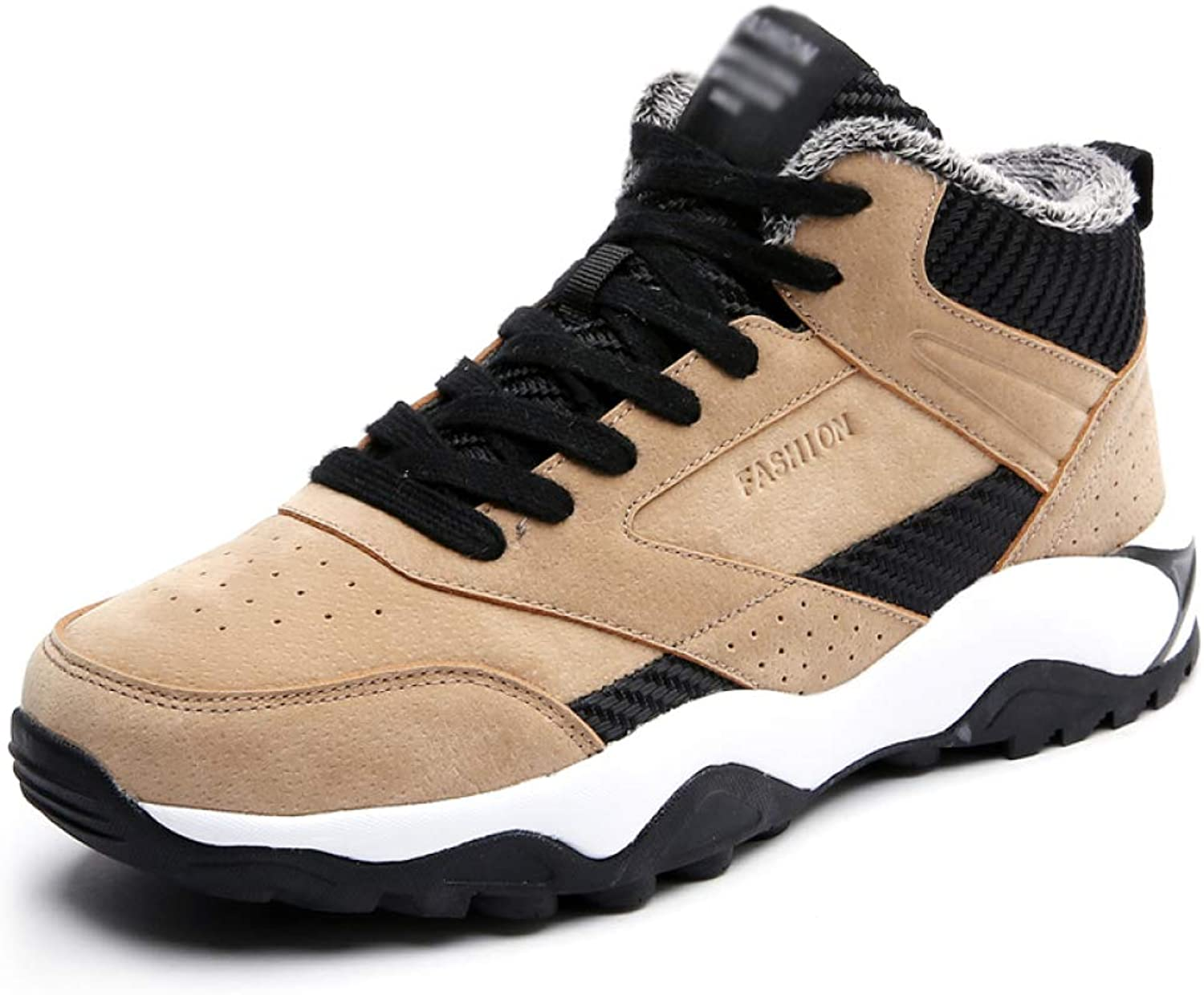 Mens Trainers Running shoes Casual Walking Lace-Up Athletic Gym Sports shoes Warm Faux Fur Lining Sneakers