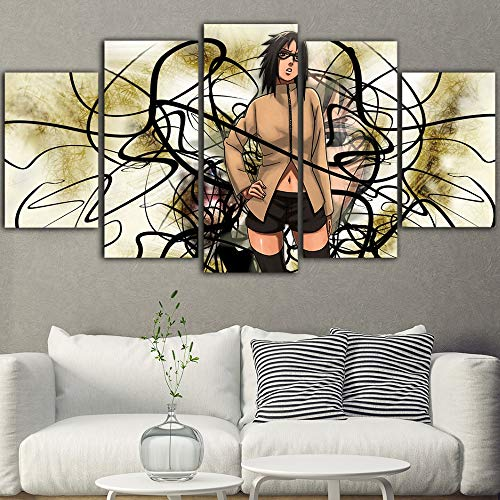 Muurkunst Canvas 5 stuks Hot Anime Naruto Canvas Schilderen Cuadros Decoraci N Dormitorio Posters En Prints Toile Mural Tableau With Frame 20x35 20x45 20x55cm