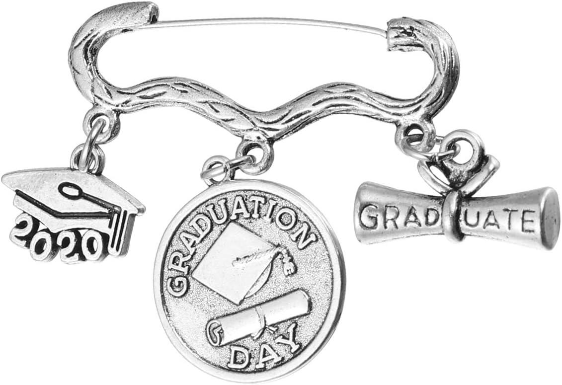 Amosfun Alloy Brooch Pin Creative Trencher Cap Brooch Souvenir 2020 Graduation Gift for Teacher Classmate for Graduation Party Supplies