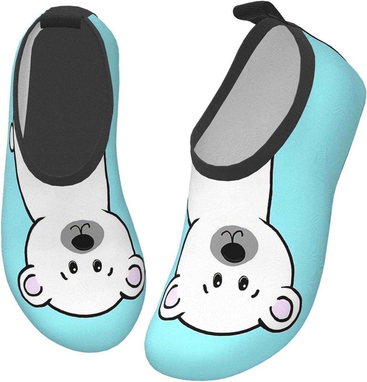 wobzfrok Polar Bear Save Me Kids Water Shoes Girls Boys Toddler Non-Slip Quick Dry Aqua Socks for Beach Swim Walking 30/31