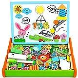 Juguetes Montessori Puzzles Infantiles Madera con Alfabeto Magnetico,Pizarra...