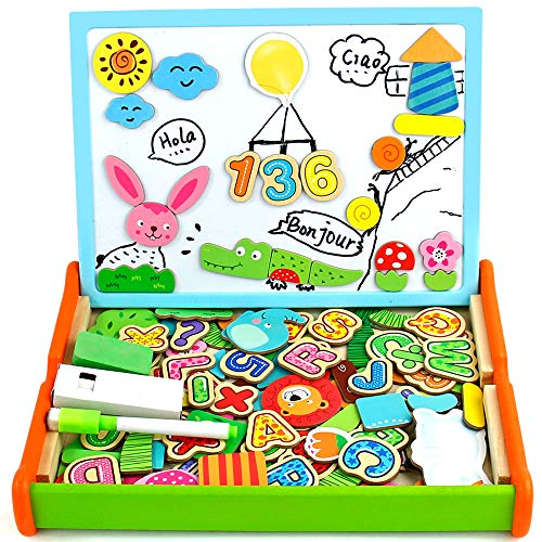 Giochi Montessori Lavagna Magnetica per Bambini Giocattoli per Bambini 2 Anni Puzzle Legno Regalo Bambino 2 3 4 Anni