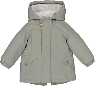 La Redoute Collections Boys Hooded Parka With Slogan On Back, 3 Months-3 Years
