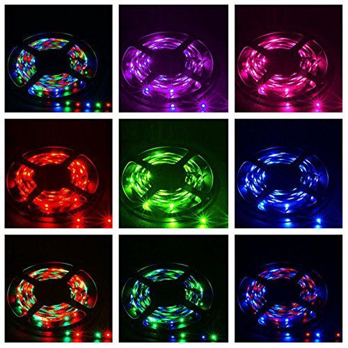 Fasclot 5M RGB 3528 300 Led SMD Flexible Light Strip Lamp+44 Key IR Remote Controller Home & Garden Led Light