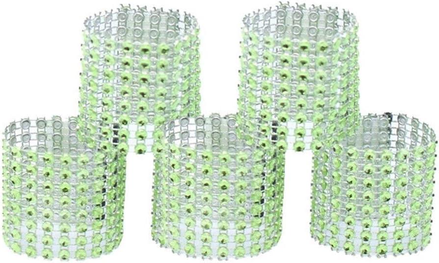 WANGYIYI 10 Uds servilleteros creativos para Mesa de Comedor Anillo de servilleta sillas Hebillas para Boda Comedor Cocina decoración cumpleaños Fiesta de Navidad (Color : Green)