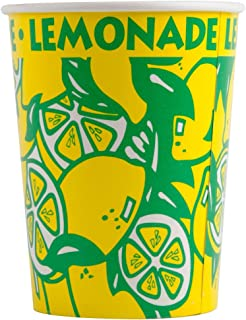 Perfect Stix LCL32-40 Squat Paper Lemonade Cup with Lids, 32 oz. (Pack 40 Cups, Straws and Lids) (Pack of 40)