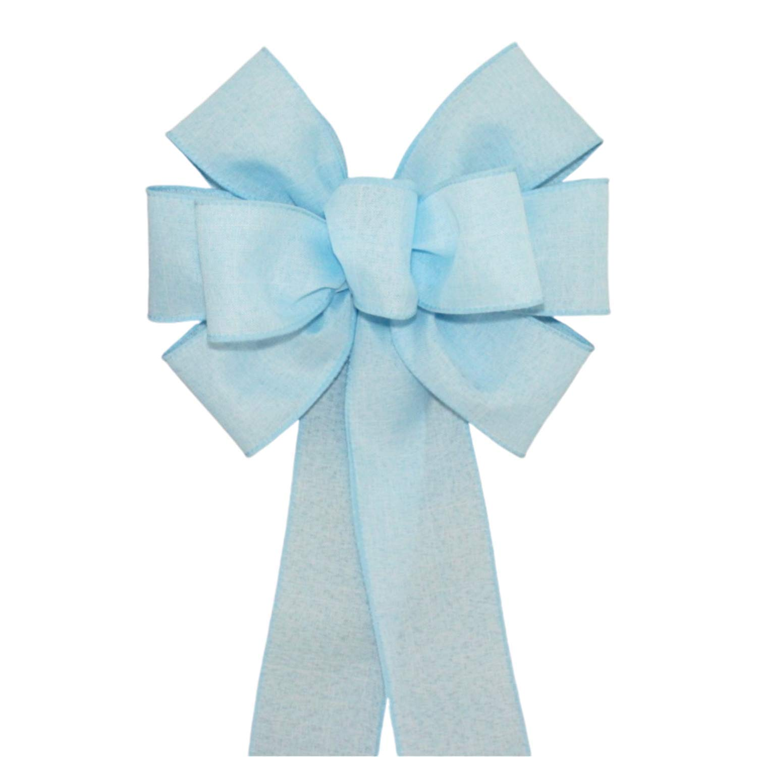 Light Safety and trust Blue Rustic Wreath Bow Color with Size gift Options