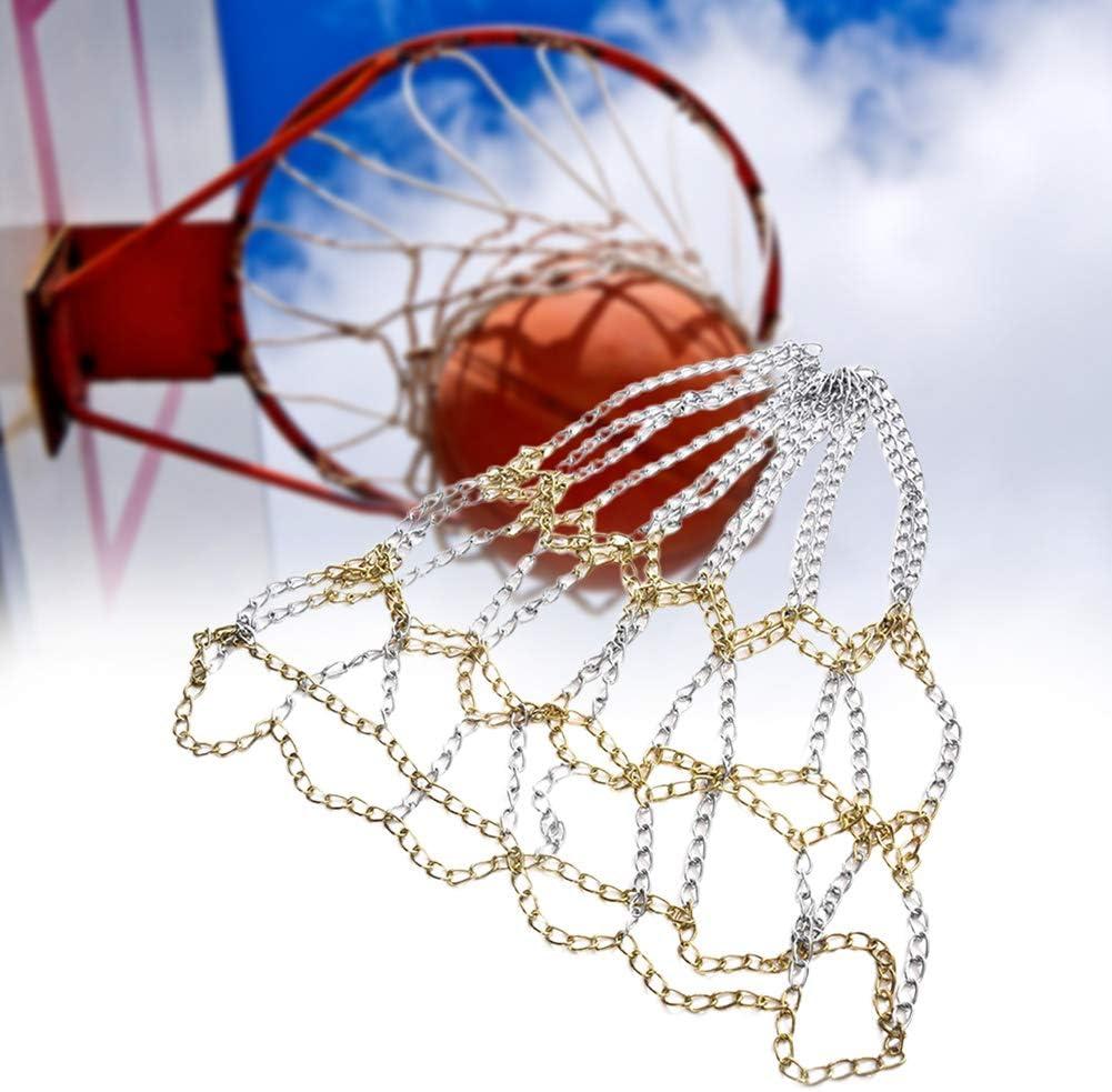resistente resistente alla ruggine resistente per la maggior parte dei cerchi standard interni ed esterni Rete da pallacanestro a catena in acciaio zincato