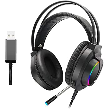 Neigei Gaming Headset for PC Tablet 3.5mm Headphone for PS4 PC for Xbox One Controller Over-Ear Headset with Mic for Laptop for Mac Games Supports Music Noise Cancelling
