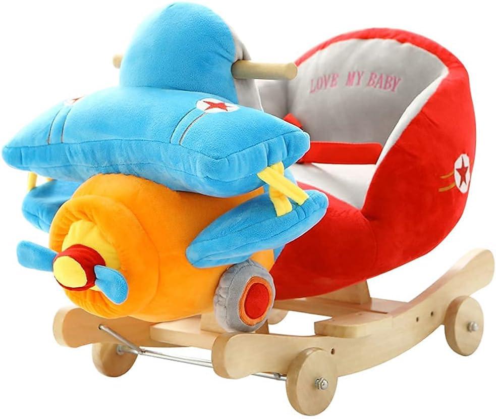 shopping cute Rocking Horse Baby Long-awaited Wooden Chair Plush