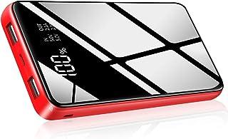 モバイルバッテリー 大容量 25000mAh PSE認証済 急速持ち運び充電器 MicroUSBとlinghning入力ポート2USB出力ポート iPhone/iPad/Android機種対応 地震//出張/アウトドア活動などの必携品 (138-6)