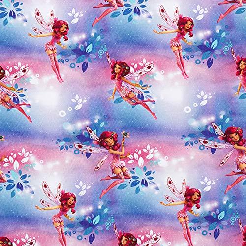 Baumwolljersey Mia and Me – rosa/lila — Meterware ab 0,5m — zum Nähen von Kinderbekleidung, Tops/T-Shirts und Kleider