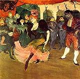 AMANUO Henri de Toulouse-Lautrec Impresiones Pinturas Famosas sobre Lienzo Humanas 80X80 cm Cuadros Enrollada - Prestamista Marcelle Baile Bolero Chilperico