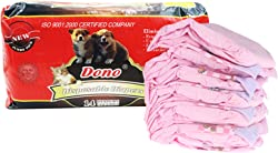 Dono Pet Diapers, for Female Dogs & Cats, Leak-Proof, Super Absorbent Disposable Diapers, Convenient & Environmental Friendly, Secure & Comfortable Fit for Your Pets, Cute Pink Color