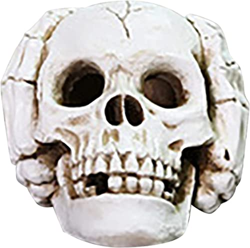popular RiamxwR Halloween Horror Glowing Skull Model, Skull and Hand outlet online sale Shape Decoration wholesale Scary Skeleton Decor Halloween Home Decor Desk Lamp for Horror Atmosphere (Style A) sale