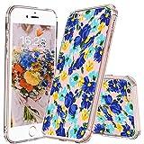 MOSNOVO [Liquid Crystal Funda iPhone 6 con Protección TPU Flexible y Ligero para Apple iPhone 6S - Blueish Floral