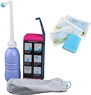 Portable Bidet Sprayer and Travel Bidet with Hand Held Bidet Bottle for Personal Cleansing Use - Include Extended Nozzle - Personal Hygiene Care Toilet Bidet Shower/Bathroom Bidet Spray -14.8oz(420ml)