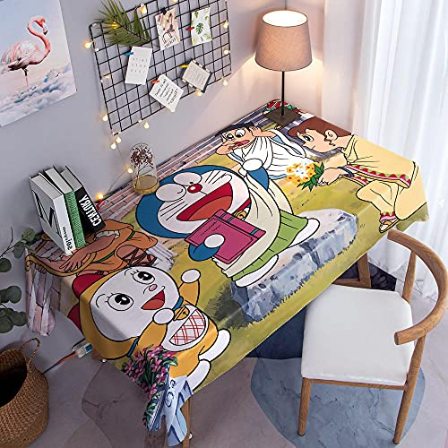 Verde Tovaglia Antimacchia Gioco Di Doraemon Tovaglie Rettangolari Impermeabile Tovaglia Lavabile Antipolvere Per La Decorazione Del Tavolo Da Pranzo Della Cucina Natale Compleanno 140 X 200 Cm