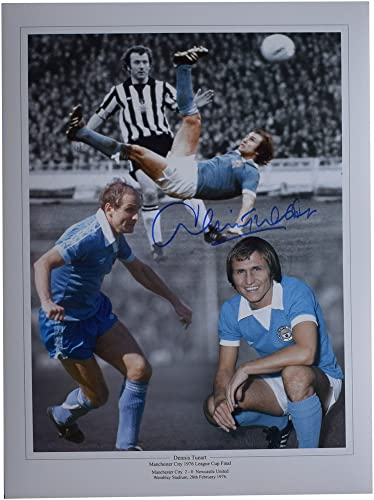 Sportagraphs Dennis Tueart SIGNED autograph 16x12 HUGE photo Manchester City Football COA PERFECT GIFT