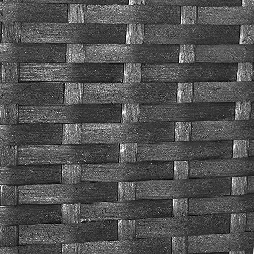 XXL Balkon Lounge Set für Balkon und Terrase erweiterbar – Polyrattan Balkon Lounge Set – schwarz – Gartenmöbel Lounge Möbel Set Garnitur – Gartenlounge Set + Lounge Sessel + Hocker + Tisch + Kissen - 3