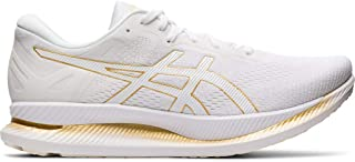ASICS - Mens Glideride Sneaker, Size: 12 D(M) US, Color: White/Pure Gold