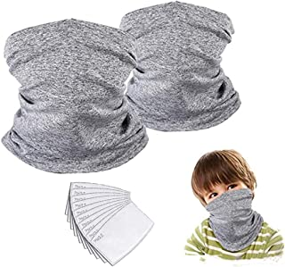 Kids Neck Gaiter Face Mask Bandana with Filter Tube Scarf...