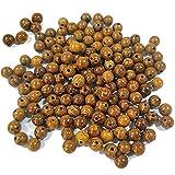 NoneBrand 600 Pcs Perles en Bois pour L'artisanat, 8 MM Perles en Bois Marron pour Bracelet Collier Fabrication de Bijoux Fournitures D'artisanat Bricolage, Perles en Bois Rondes