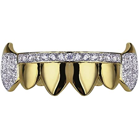 Micro CZ Stunning Grill Fangs Mouth Cap Grills Hiphop Halloween Fang Teeth
