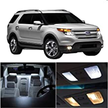 SCITOO 11Pcs White Interior LED Light Package Kit Replacement Bulbs Fits for Ford Explorer 2006-2010