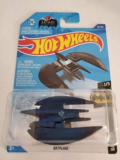 2020 Bat Plane Hot Wheels Batman Animated Series BatPlane BLACK w// Mini Stand