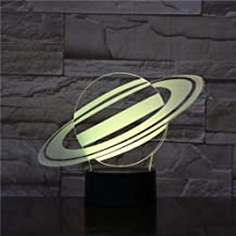 wangZJ Niños 3d Night Light/Star Planet 3d Illusion/Led Light / 7 Color Change/Bedroom Decoration Gift/Christmas Gift/Touch remote