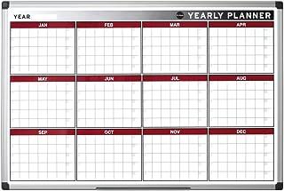 Bi-Office 90 x 60 cm Doce meses magnética Planificador anual