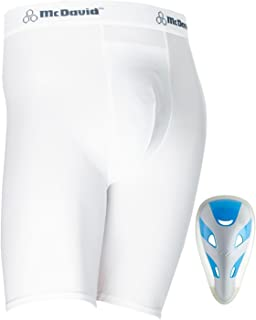 McDavid Classic Logo 710JCF Compression Shorts w/Cup White JR Regular