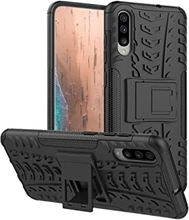 Samsung Galaxy A70 Case,PUSHIMEI Heavy Duty Shockproof with Kickstand Hard PC Back Cover Soft TPU Dual Layer Protection Ph...
