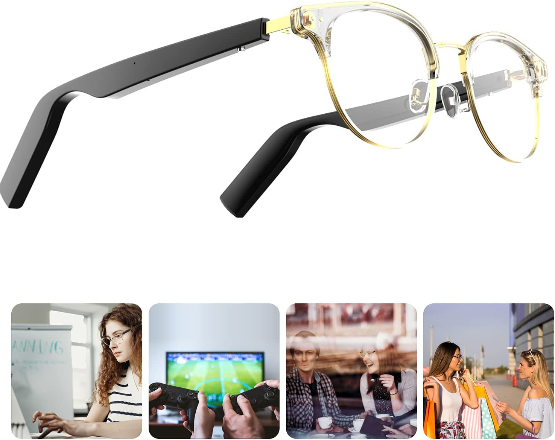 Homradise Smart Audio Sunglasses Wireless Bluetooth with Open Ear Headphone,Smart Glasses,Bluetooth Glasses