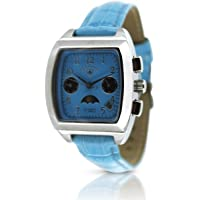 Swiss Tradition Womens Automatic Multifunction Moonphase Watch (Blue)