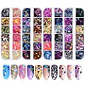 FITDON 48 Boxes Nail Glitter Sequins