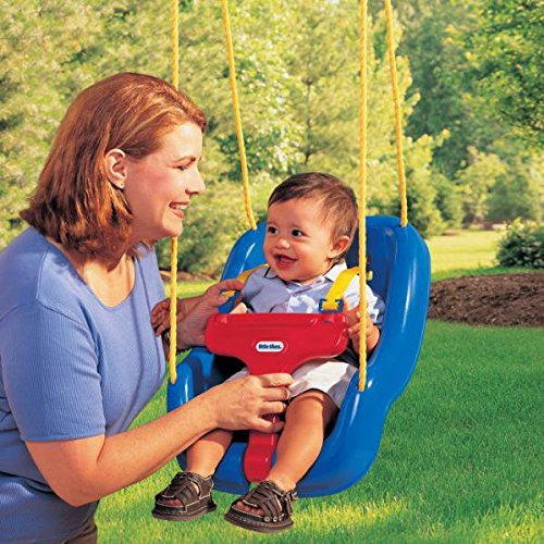 Little Tikes 2 -in- 1 Snug 'n Secure Grow With Me Swing - Blue