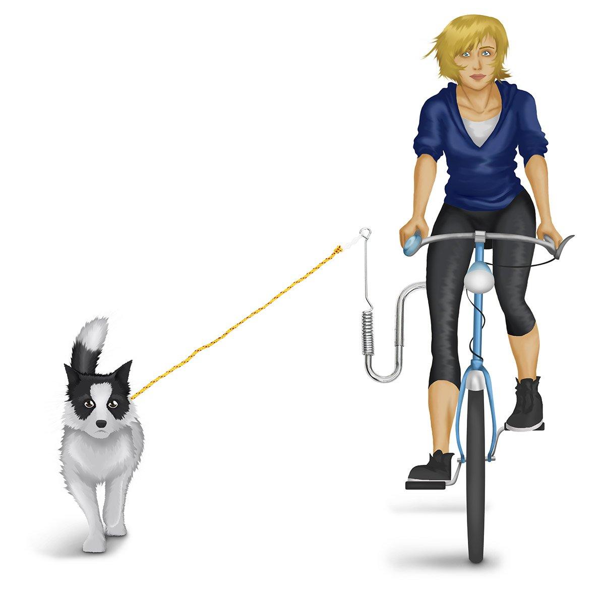 Relaxdays Correa de Perro para Bicicleta, Nailon, Plateado ...