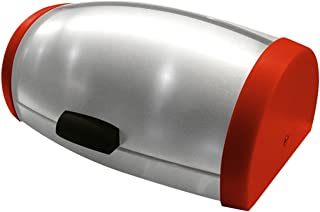 Stainless Steel Roll-top Bread Box, Large (Red)