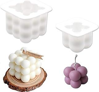 F/ür Handwerk Fondant Duftkerze Soy Wachs Seife 3D Kerzenform Silikonform Cube Kerzengiessformen Ball Seifenform Silikonform Kerze NALCY 2PCS 3D Cube-Silikon-Form Kerzen Gie/ßform