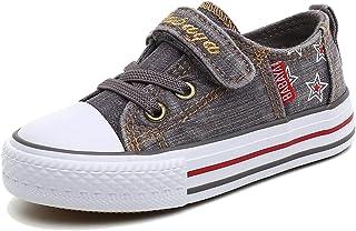 iDuoDuo Boys and Girls Washable Denim Sport Flat Canvas Shoes (Toddler/Little Kid/Big Kid)