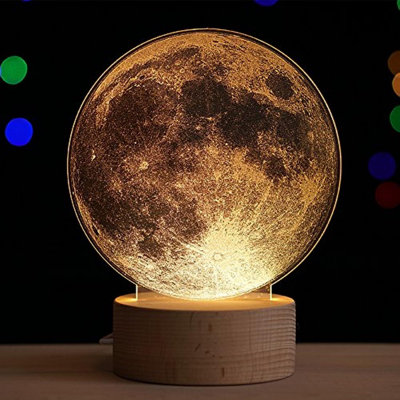 Nachtlicht Lampe kreative 3D-Mond leuchtet ein. Geburtstag Geschenk Valentinstag Frau zu senden, Lunar Laterne Schalter