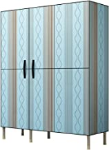 HN Wardrobe, Cloth Wardrobe Assembly Cloth Wardrobe Simple Wardrobe Steel Tube Bold Reinforcement Storage Wardrobe 3 Color...