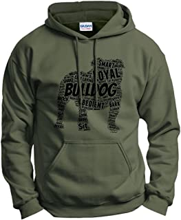 ThisWear English Bulldog Word Art Dog Puppy Owner Gift Hoodie Sweatshirt