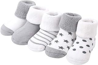 LJENFCI, Calcetines Felpa ReciéN Nacidos AlgodóN PequeñOs BebéS y NiñAs Calcetines Suaves y Gruesos Calcetines Bonitos NiñOs PequeñOs,5 Pares ReciéN Nacidos