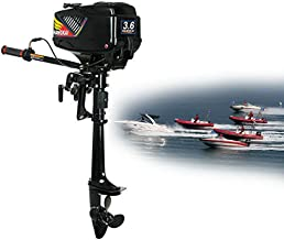 3.6HP 2 Stroke Outboard Motor, Heavy Duty Inflatable Fishing Boat Engine w/Water Cooling CDI System, USA Stock