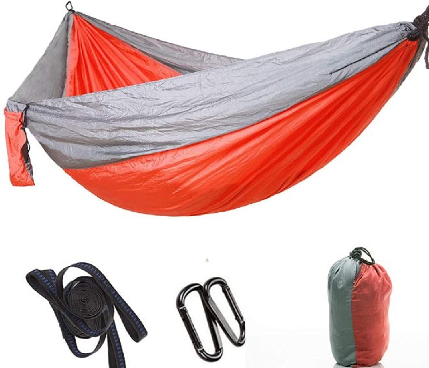 Outdoor Hammock, UltraLight Portable Parachute Camping Hammock with A Load Capacity of 200Kg, Suitable for Outdoor Travel Backpacks Using 300×200Cm