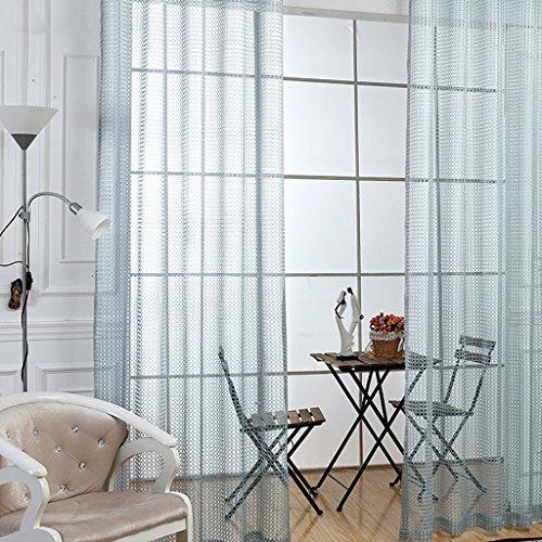 Met Love Fenêtre Rafraîchissante Criblage Simple moderne Salon Baie Fenêtre Balcon Mince Fenêtre Criblage 2 Panneaux (taille : L:2.5*H:2.7m)