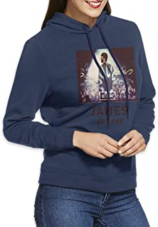 Women's Hoodie Athletic James Arthur Adult Pullover Navy M